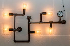 industrial style lighting pipework wall light large industrial style wall light fitting