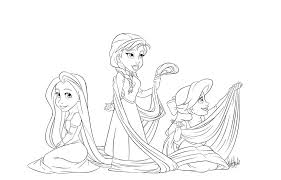 anna elsa mermaid coloring pages printable coloring sheets