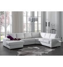 canapé d angle en cuir blanc canapé d angle avec méridienne simili cuir blanc salon