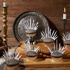 game of thrones foil throne cupcakes