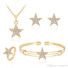 bracelet necklace earrings set images Online cheap crystal star pendant necklace earrings ring bracelets jpg
