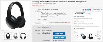 black friday bose headphones deal alert grab a pair of factory renewed bose quiet comfort 35