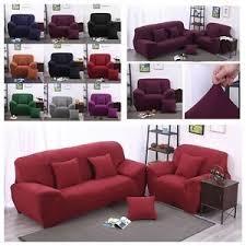 housse canapé extensible 4 places housse canapé spandex polyester lycra fini 1 4 place sofa fauteuil