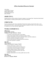 Best Job Objectives For Resume by Sample Objectives In Resume For Office Staff Resume For Your Job