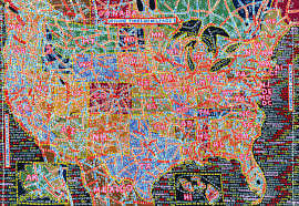 Map Of Time Zones In America by Paula Scher U0027s Hand Painted Semi Accurate Maps Of America Citylab