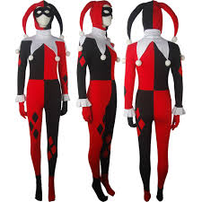 dc comics batman supervillain harley quinn costume clown jester