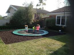 in ground trampolines landscape design gallery aaa landscape