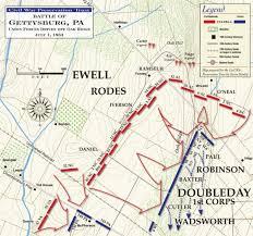 Map Of Williamsport Pa Gettysburg Union Forces Driven Off Oak Ridge July 1 1863