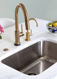 modern kitchen sink faucets delta trinsic faucet in chagne bronze kitchen by design