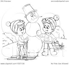 royalty free clip art illustration of a coloring page outline of