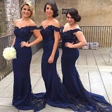 best bridesmaid dresses best selling navy blue bridesmaid dresses 2016 lace shoulder
