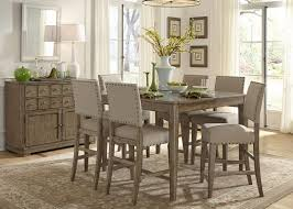 weatherford rustic casual 6 piece dining table and chairs set with