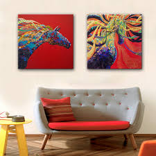 online get cheap painting of 2 horses aliexpress com alibaba group