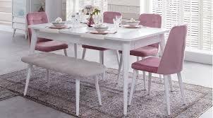 yemek masasi luna yemek masasi beyaz vivense