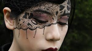 halloween airbrush makeup black lace makeup tutorial fables in fashion youtube