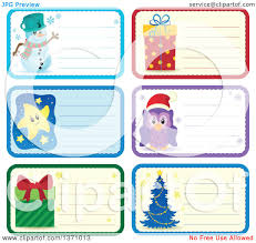 clipart of christmas gift or name tag labels of a snowman gifts