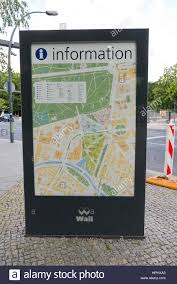 Map Of Berlin Germany by An Information Board With A Detailed Map Of Berlin Germany Stock
