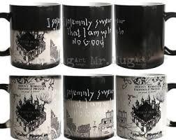 harry potter color changing mug etsy