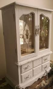 Shabby Chic Jewelry Armoire by Jewelry Box Rustic Trinket Box Wooden Valet Tray Rolltop Jewelry