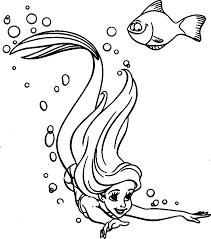 Coloriage Ariel et Polochon à imprimer