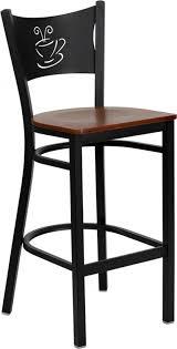 shop bar stool pro tough heavy duty metal bar stool with coffee shop back wood seat