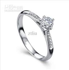 real diamond engagement rings 2017 wholesale 18k white solid gold real diamond jewelry wedding