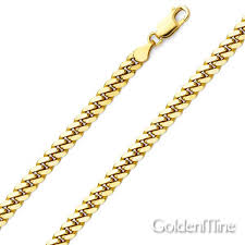 yellow gold cuban link bracelet images 5mm 14k yellow gold men 39 s miami cuban link chain necklace 20 22in jpg