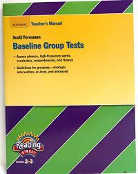 assessment teacher u0027s manual baseline group test reading street