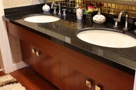 furniture brown granite countertop connected by double stainless