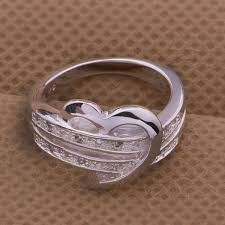 Heart Wedding Rings by 925 Sterling Silver Heart Wedding Ring From Clever Clad Places