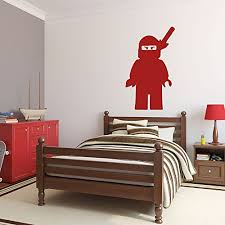 bedroom supplies amazon com lego ninjago wall decal children bedroom decor lego