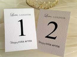 what size are table number cards laughter table name and table number cards