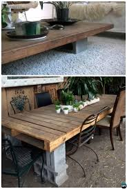Building Outdoor Wooden Tables by Best 25 Cinder Block Furniture Ideas On Pinterest Cinder Block