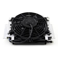 oil cooler with fan transmission dual pass oil cooler with electric fan angus racing