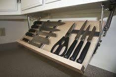 under counter storage cabinets under cabinet drop down knife block drawer ebay kitchen