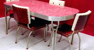 retro dining table and chairs retro dining table set s style chrome retro dining table set w red