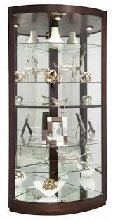 cabinet lighting elegant glass curio cabinets with lights design