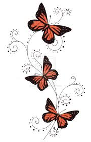 collection of 25 3d bird and color butterflies tattoos