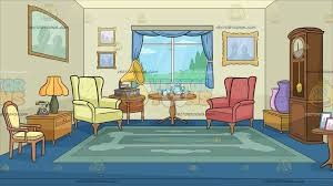 cartoon living room background a sitting room filled with antiques background cartoon clipart