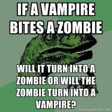 What If Dinosaur Meme - philosoraptor zombies vire deaf person