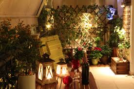 exterior design pretty romantic lighting balcony ideas with green