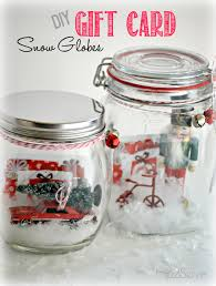 diy gift card snow globes globe snow and gift