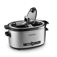 amazon kitchenaid black friday kitchenaid 6 quart slow cooker with easy serve glass lid for just