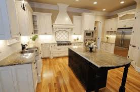 dark cabinets light floors rectangle brown varnished solid wood