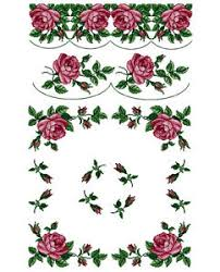 abc designs roses 4 machine cross stitch embroidery designs set
