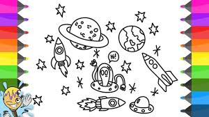 how to draw space coloring pages universe learning drawing