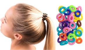 hair bobbles 50 or 100 spiral hair bobbles for 9 98 top deals