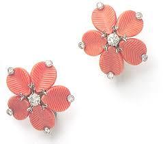 hepburn earrings cartier coral diamond and platinum coffee beans earrings worn by