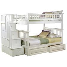 Bunk Beds Twin Over Full With Desk Best 25 Staircase Bunk Bed Ideas On Pinterest Bunk Bed Mattress