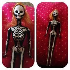 skeleton barbie a barbie doll creation by xx13 crowsxx